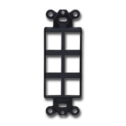 Hubbell ISF StyleLine Outlet Frame - 6 Ports (Package of 25)