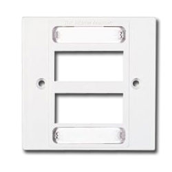 Siemon Single Gang MAX British Faceplate for 6 MAX Module