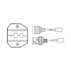 Ideal Die Set, Plenum and Thinwire PVC Hex, RG-58/RG-59, for Crimpmaster Tool Frame 30-486