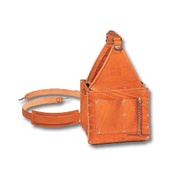 Ideal Tuff-Tote Ultimate Tool Carrier with Shoulder Strap, Premium Leather Model