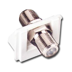Siemon SM Bezel with 1 F-Type Coaxial Connector