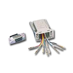 Siemon DB09 to 8-Position, 8-Conductor Modular RS232 Kit