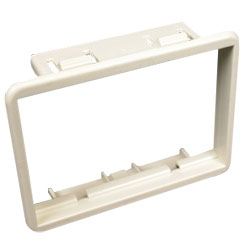 Legrand - Wiremold CM Ortronics Series II 6A Adapter Mounting Bezel, Gray (Package of 5)
