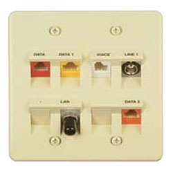 Allen Tel Single Gang 45 Degree Angled Versatap Faceplate