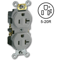 Leviton Side Wired 20A 125V Duplex Receptacle