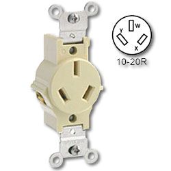 Leviton Side Wired 20Amp 125/250V Non-Grounding