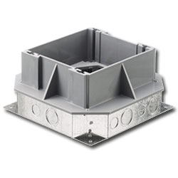 Hubbell Large Capacity Concrete Recessed Stamped Steel Floor Box