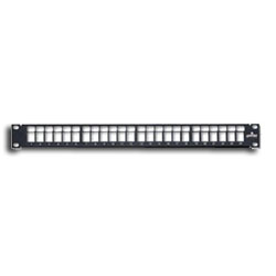 Leviton QuickPort Mulitmedia Patch Panel with Cable Management Bar
