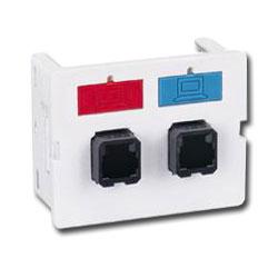 Siemon Flat Fiber Adapter CT Coupler with 2 Duplex MT-RJ Adapters (4 Fibers)
