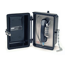 Ceeco Weatherproof Phone with Armored Cord and Keypad