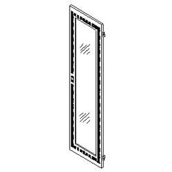 Southwest Data Products Series 2000 Vented Door with Plex Insert 42U
