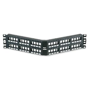 Panduit® NetKey 48-Port Flush Mount Angled Modular Patch Panel