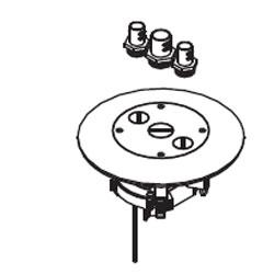 Legrand - Wiremold Single or Dual-Service Floor Box Cover