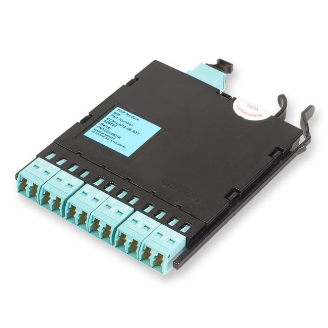 Corning  12 Fiber Pretium EDGE® LC Duplex to MTP® Connector Module, 50 µm multimode (OM3)