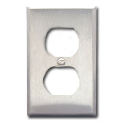 ICC 2-Port Single Gang Electrical Stainless Steel Faceplate