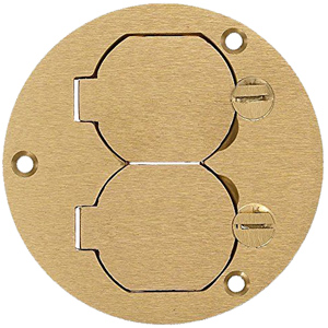 Hubbell Round Floor Box Flush Duplex Cover Without Flange