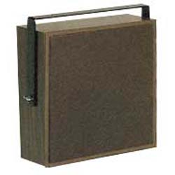Valcom Dark Brown Cloth Grille Talkback Corridor Speaker