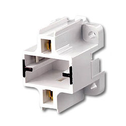 Leviton Compact Vertical Bottom Snap-In Fluorescent Lampholder