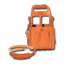 Ideal Tuff-Tote Tool Carrier with Shoulder Strap, Premium Leather Model