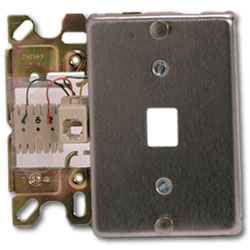 Suttle Stainless Steel 6-Conductor Wallplate with Quick-Connect & Mounting Lugs