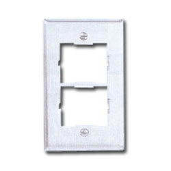 Siemon Single Gang Stainless Steel CT Faceplate for Two Couplers