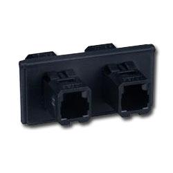 Siemon FOB Bezel with 2 Duplex MT-RJ Adapters (4 Fibers)