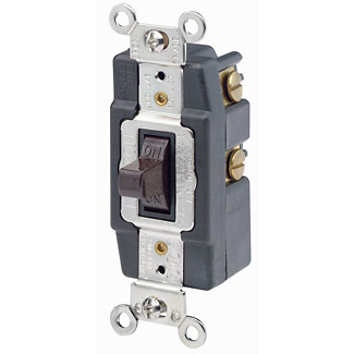 Leviton Back and Side Wired 30 amp Momentary Contact 120/277V AC