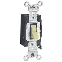Leviton Back and side Wired 120/277V AC Quiet Switch