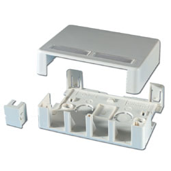 Legrand - Ortronics TracJack™ Plastic Surface Mount Box for up to Four Modules