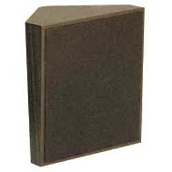 Valcom Dark Brown Cloth Grille Talkback Corner Speaker
