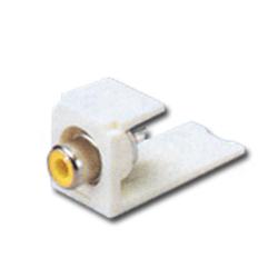 Panduit® Mini-Com RCA Solder Type Module - Yellow Insert (RoHS Compliant)