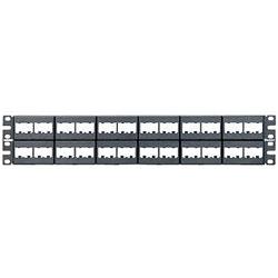 Panduit® 48 Port  Modular Patch Panel, Black