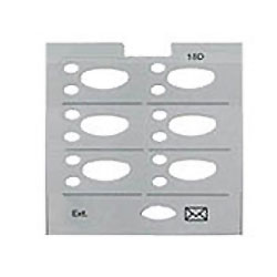 Avaya Partner Designation Paper Strip for 6 Button Display Partner Euro Style Series 2