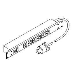 Southwest Data Products Rack Mount 6 Outlet Power Strip