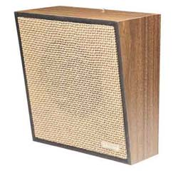 Valcom Light Brown Open-Weave Grille Talkback Wall Speaker