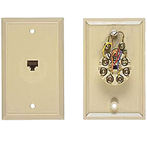 Allen Tel One Piece Wall Jack - 8P8C