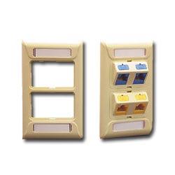 ICC 2-Port 1-Gang Bi-Frame Faceplate