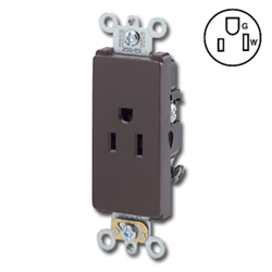 Leviton Single Back and Side Wired, Self-Grounding NEMA 5-15R