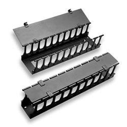 Chatsworth Products Universal Horizontal Cable Manager Single-Sided Deep Panel 6.26