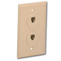 Suttle 6 Conductor Flush Wall Jack