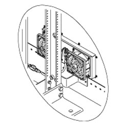 Chatsworth Products Side Fan and Filter Assembly for Rack Enclosures