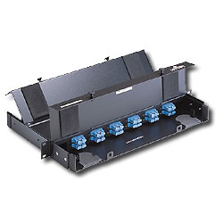 Leviton 24 Port Rack Mount Fiber Optic Patch Panel - Loaded with 6 Duplex SC Adapters
