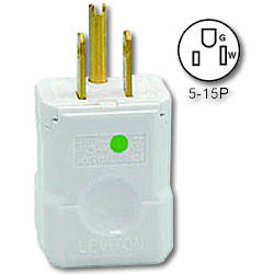 Leviton 15Amp 125V Hospital Grade NEMA 5-15 Plug