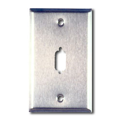 Allen Tel Stainless Steel DB Connector Faceplate
