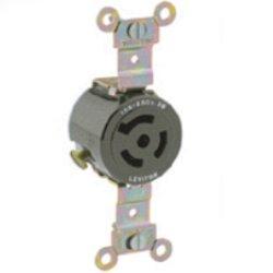 Leviton 15 Amp, 250 Volt, Single Flush Receptacle, Isolated Ground