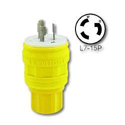 Leviton 15 Amp Locking Wetguard Plug (Grounding)