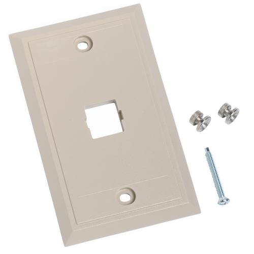 Commscope L Series Single Port Flush-Wall Mount Telephone Faceplate