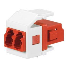 Panduit® Netkey Keyed B Duplex LC Adapter Module with Zirconia Split Sleeves