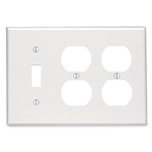 Leviton 3-Gang 1-Toggle 2-Duplex Device Combination Wallplate