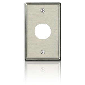 Leviton DuraPort Single Gang Stainless Steel Industrial Wallplate